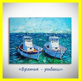 """Картины, постеры, гобелены, панно - 🎨Картина """"Братья-рыбаки"""". Холст, масло. Нестеров., 0"""