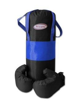 Тренировочные снаряды - Боксерский набор Belon Груша цилиндр 60*25 см,…, 0