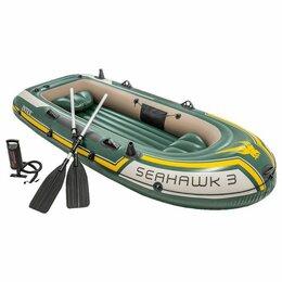 Надувные, разборные и гребные суда - Лодка надувная трехместная Seahawk-3 Set 68380, 0