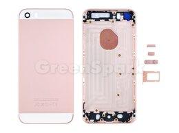 Корпусные детали - Задняя крышка для iPhone SE (розовое золото)…, 0