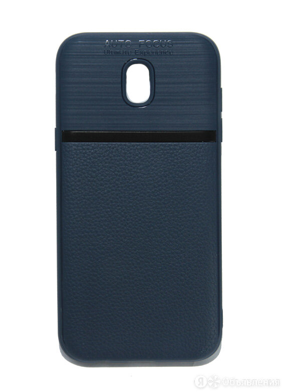 Чехол-накладка для Samsung J530F J5 2017 NEW LINE LITCHI TPU синий по цене 285₽ - Чехлы, фото 0