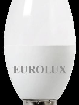 Лампочки - Лампа св/д Eurolux 7Вт,нейтр.,Е14 свеча, 0