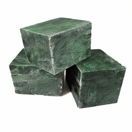 Камни для печей - Атлант-камень Нефрит кубики, 10 кг, 0