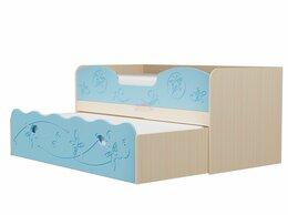 Кровати - Двухъярусная кровать Омега-11 (Голубой), 0