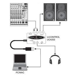 Звуковые карты - BEHRINGER UCA 202 U-CONTROL Внешняя звуковая…, 0
