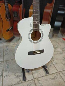 Акустические и классические гитары - Гитара белая акустическая, 0