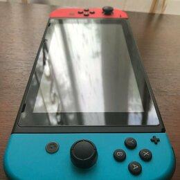 Игровые приставки - Nintendo Switch прошитая + 128гб + чехол , 0
