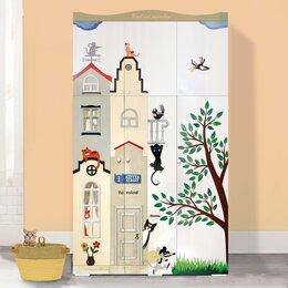 Шкафы, стенки, гарнитуры - Дизайнерский шкаф в детскую с рельефной отделкой, 0