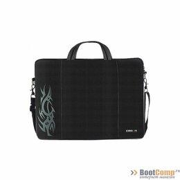 Аксессуары и запчасти для ноутбуков - Сумка для ноутбука CROWN CMB-437 Black 15.6, 0