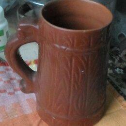 Кружки, блюдца и пары - Кружка пивная, керамика, импорт, 0