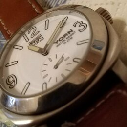 Наручные часы - Часы кварцевые..ЕРН...ИДУТ ОТЛИЧНО..РЕМЕШОК ИЗ ТОЛСТОЙ.НАТУРАЛЬНОЙ КОЖИ, 0