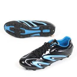 Обувь для спорта - Бутсы шипованые АА01 (черный/синий, р-р 44) 251-150, 0