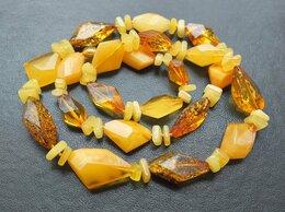 Колье - 💖 Бусы из натурального янтаря новые, жёлтый и…, 0