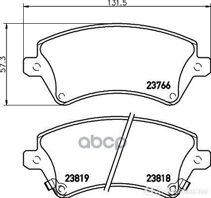 Колодки Пер.Toyota Corolla 02=> NISSHINBO арт. NP-1049 по цене 2550₽ - Тормозная система , фото 0