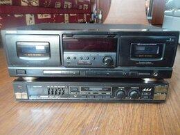 Музыкальные центры,  магнитофоны, магнитолы - усилитель ВЕГА,2х кассетный магнитофон AIWA 5000…, 0