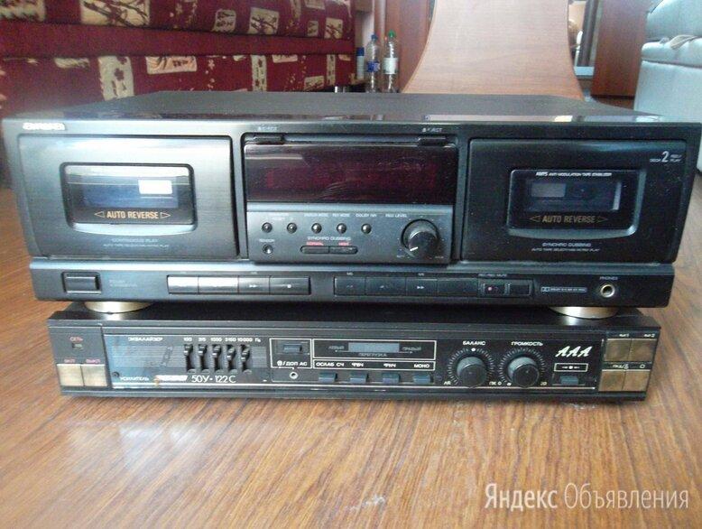 усилитель ВЕГА,2х кассетный магнитофон AIWA 5000 р. по цене 5000₽ - Музыкальные центры,  магнитофоны, магнитолы, фото 0