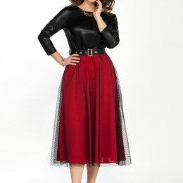Платья - Платье 1828 TEZA красное Модель: 1828, 0