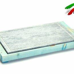 Электрические грили и шашлычницы - Сковорода гриль Bisetti 99274A мясо овощи рыбы креветки шашлыка на камне, 0