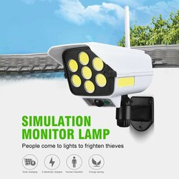 Уличное освещение - Уличный фонарь аккумулятор, солнечная панель, датчики, пульт, 0