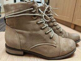 Ботильоны - Женские замшевые ботинки (полусапожки), 39р, 0