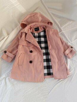 Пальто и плащи - Плащ для девочки, пудровый, Futurino, р.98, 0