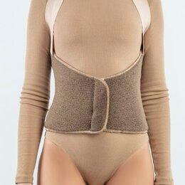 Одежда и обувь - Пояс-корсет согревающий стрейч, размер 4XL-5XL, обхват талии 107-122 см, верблюд, 0