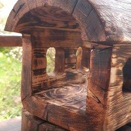 Миски, кормушки и поилки - Кормушка домик для птиц и белок, 0