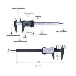 Измерительные инструменты и приборы - Штангенциркуль электронный цифровой 150мм, новый, 0