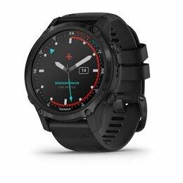 Умные часы и браслеты - GARMIN DESCENT MK2S CARBON GRAY DLC WITH BLACK SILICONE BAND, 0