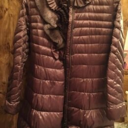 Пуховики - Пальто пуховое сливового цвета Acasta оригинал, 0