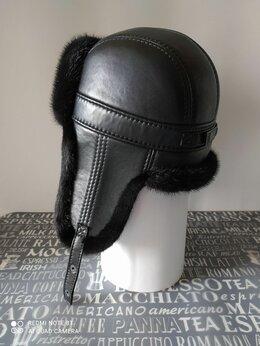 Головные уборы - Новые мужские шапки ушанки из норки и кожи, 0