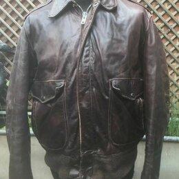 Куртки - Кожаная куртка пилот Schott винтаж, 0