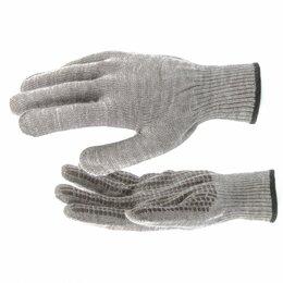 """Одежда - Перчатки трикотажные, акрил, ПВХ гель, """"Протектор"""", коричневый, оверлок ..., 0"""