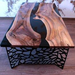 Столы и столики - Стол-река Астрей из слэбов ореха, 0