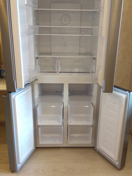Холодильники - Холодильник Weissgauff WCD 486 NFX, 0