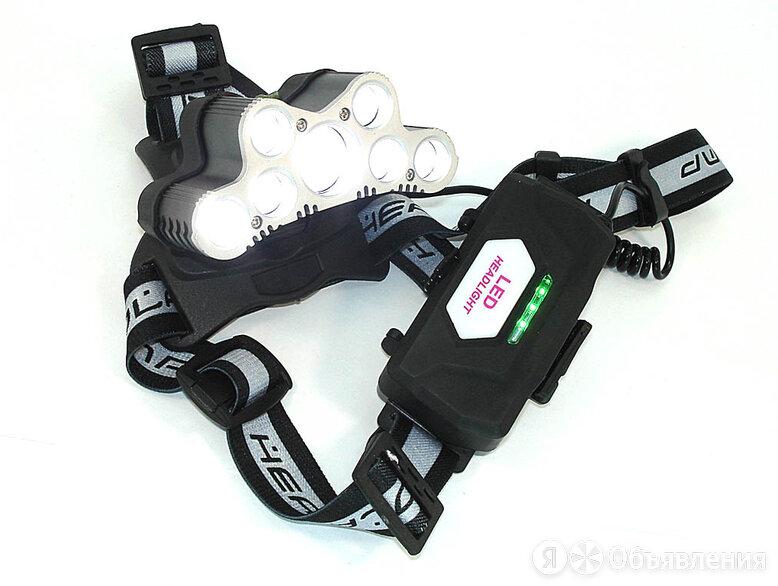 Налобный светодиодный фонарь 7LED с зарядкой от USB (2x18650 батареи) по цене 1150₽ - Фонари, фото 0