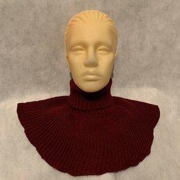 Шарфы и платки - Хомут женский шарф воротник труба снуд (бордовый), 0