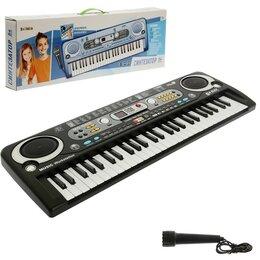 Детские музыкальные инструменты - ZABIAKA Синтезатор «Музыкальный взрыв», работает от сети и от батареек, 54 кл..., 0