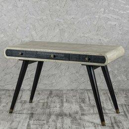 Компьютерные и письменные столы - Стол рабочий письменный с 3 ящиками серый Decor…, 0