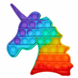 Игрушки-антистресс - Вечная пупырка антистресс Pop It пузырь Bubble Fidget единорог, 0