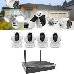 Готовые комплекты - Видеонаблюдение (Wi-Fi,360°) на 4камеры C6CN+X5S., 0