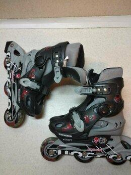 Роликовые коньки - Роликовые коньки детские раздвижные и защита, 0