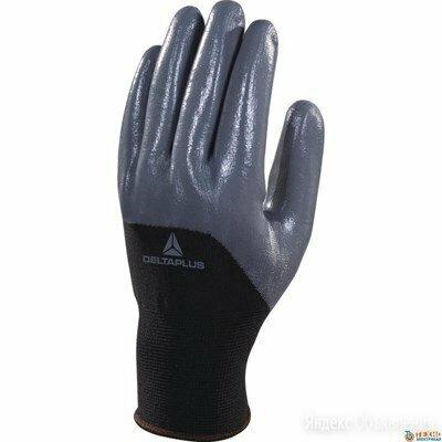 Перчатки трикотажные с нитриловым покрытием Deltaplus VE712GR (черные) (L) по цене 170₽ - Перчатки и варежки, фото 0
