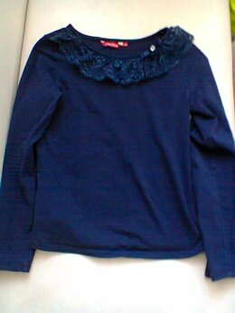 Рубашки и блузы - Блузка в школу синяя 10-11 лет, 0