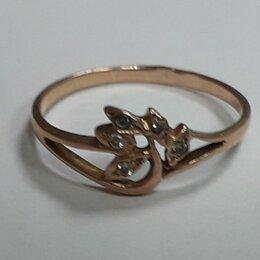 Кольца и перстни - Золото 585 , кольцо с фианитами 1,2 г. ( 16,5 размер) , 0