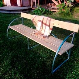 Столы - Лавочка со спинкой Агросфера Уют, Сухая обрезная доска, 0