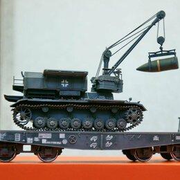 Сборные модели - 1/35 модель танка железнодорожная платформа для перевозки танков Германия, 0