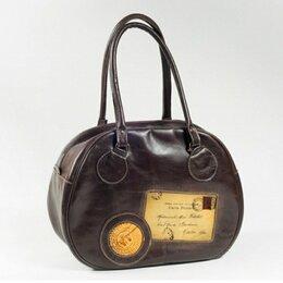 Сумки - Дизайнерская сумка  с фотопринтом из мягкой итальянской кожи, 0