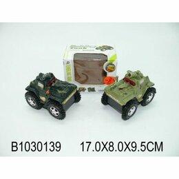 Электромобили - Машина-перевертыш на бат. военная, со светом 156 в кор. 17*9*8см в кор.2*84шт, 0