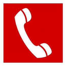 """Предупредительные наклейки и таблички - Знак безопасности Белый свет PP-17174.F05 """"Телефон для использования при пожаре"""", 0"""